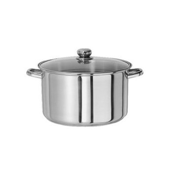 Gourmet Chef Stock Pot with Lid Size: 10 Quarts