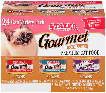 Stater Bros® Premium Gourmet Grilled Variety Pack Cat Food 4.5 lb. Box