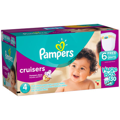 Premium Pampers Cruisers Size 4 Huge Pack 130 Count