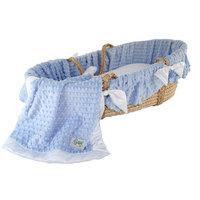 Wendy Anne Minky Dot Moses Basket Set Color: Ivory