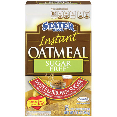 Starter Bros® Instant Oatmeal Sugar Free Maple & Brwon Sugar 8 ct 0.98 Packets