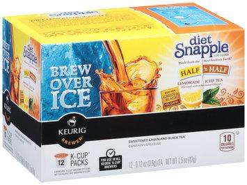 Diet Snapple® Half 'n Half Lemonade Iced Green & Black Tea K-Cup® Packs 12 ct Box
