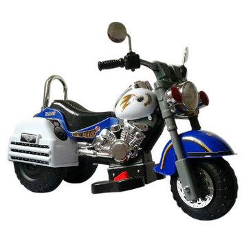 Merske Llc 6V Harley Style Kids Motorcycle Color: Blue
