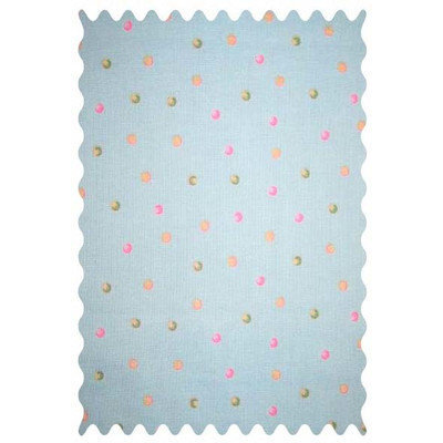 Stwd Dots On Fabric by the Yard Color: Mint