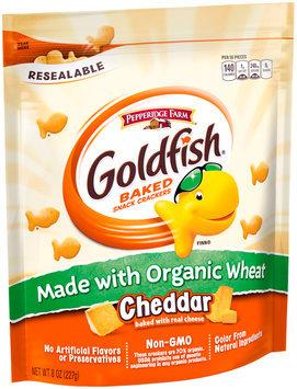 Pepperidge Farm® Goldfish® Baked Organic Wheat Cheddar Snack Crackers 8 oz. Bag