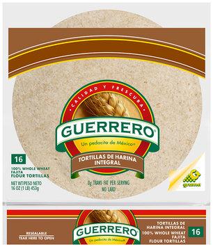 Guerrero® 100% Whole Wheat Fajita Flour Tortillas 16 ct. Bag