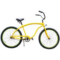 Beachbikes Men's Bruiser Beach Cruiser Bike, Yellow with Green