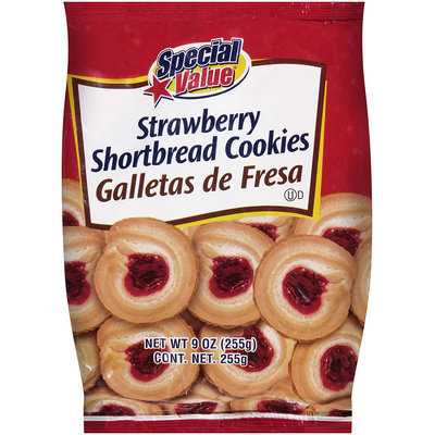 Special Value® Shortbread Cookies Strawberry 10 oz. Bag
