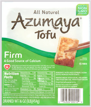 Azumaya® Firm Tofu 16 oz. Tray