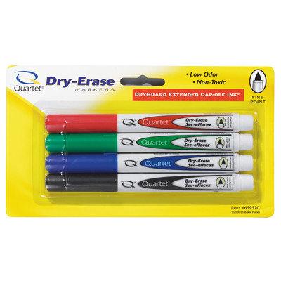 Quartet Manufacturing. Company Quartet Dry-Erase Marker, Fine Tip, 4/ST, Black/Red/Green/Blue