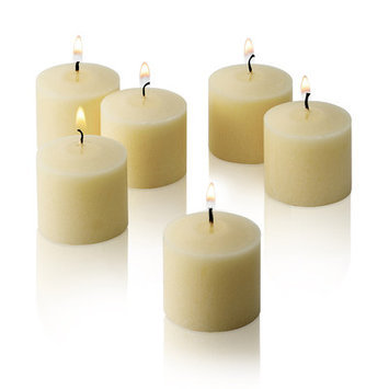 Light In The Dark Candles 10 Hour French Vanilla Scented Votive Candles (Set of 12) ivory LITD-V1012-FRNGVNILA