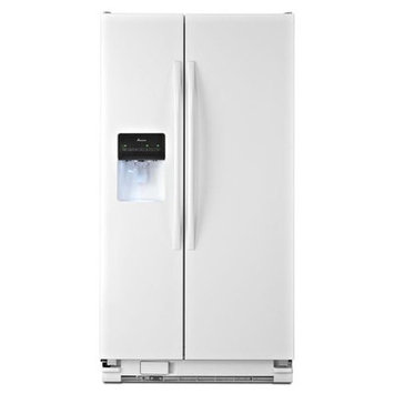 Amana 25 Cu Ft White Side By Side Refrigerator