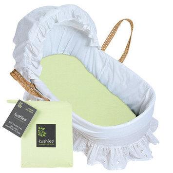 Kushies Organic Bassinet Fitted Sheet Green