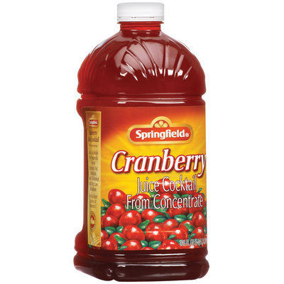 Springfield from Concentrate Cranberry Juice Cocktail 128 Oz Plastic Bottle