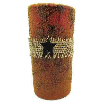 Starhollowcandleco Pillar Candle Color: Red