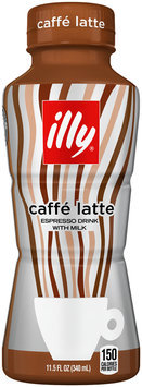 illy Caffe Latte Espresso Drink with Milk 11.5 fl. oz. Bottle
