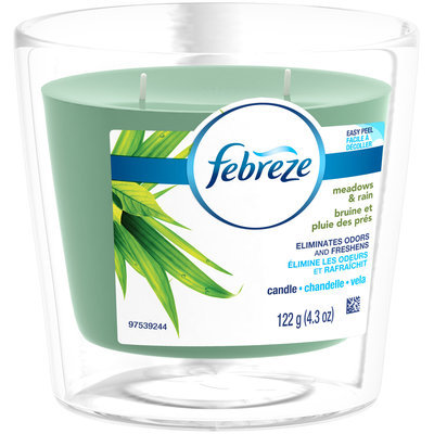 Candle Febreze Scented Candle Meadows & Rain Air Freshener (1 Count, 4.3 oz)