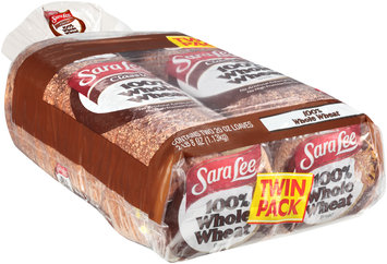 Sara Lee® Classic 100% Whole Wheat Bread Twin Pack 2-20 oz. Bags