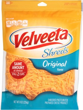 Velveeta Shreds Original Flavor Cheese 8 oz. ZIP-PAK®