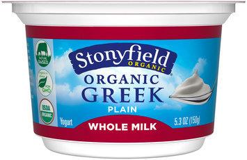 Stonyfield Organic® Plain Greek Yogurt 5.3 oz Cup