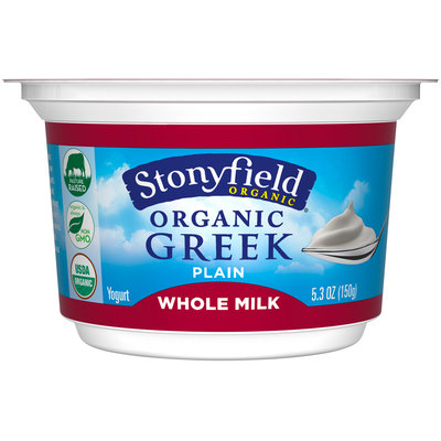 Stonyfield Organic® Plain Greek Yogurt 5.3 oz Cup