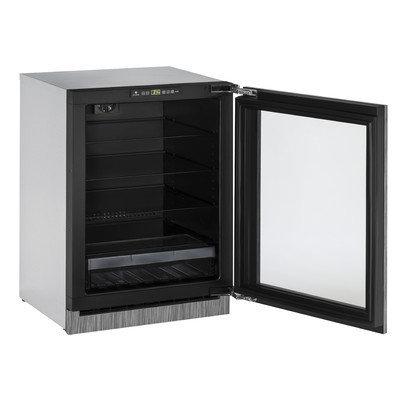 U-Line 2000 Series 24 Panel Custom Overlay Glass Door Refrigerator