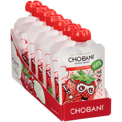 Chobani® Kids™ Strawberry Low-Fat Greek Yogurt