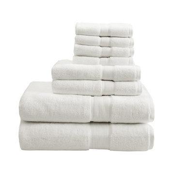 Madison Park Signature 800 GSM Cotton 8 Piece Towel Set Color: Cream
