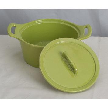 Omniware Stoneware Round Casserole Size: Small, Color: Red
