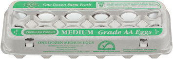 Haggen Medium Farm Fresh Grade AA Eggs 12 Ct Carton