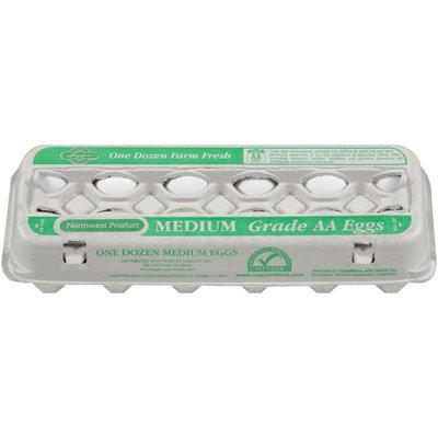 Haggen Medium Farm Fresh Grade AA Eggs 12 Ct Carton
