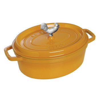 Staub Coq au Vin 4.25-qt. Cast Iron Oval Cocotte Color: Burnt Orange