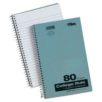 TOPS Ruled, Perforated and Wirebound Writing Pads Blue Kraft Notebook