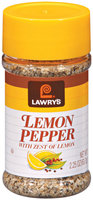 Spice & Seasoning W/Zest of Lemon Lawry's Lemon Pepper 2.25 Oz Shaker