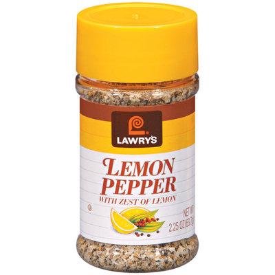 Spice & Seasoning W/Zest of Lemon Lawry's Lemon Pepper 2.25 Oz Shaker