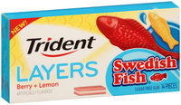 Trident Layers Swedish Fish Berry + Lemon Gum