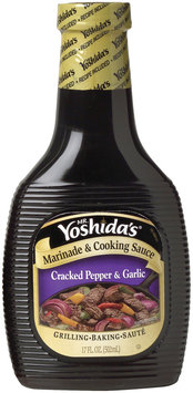 MR. YOSHIDA'S Cracked Pepper & Garlic Marinade & Cooking Sauce 17 OZ PLASTIC BOTTLE