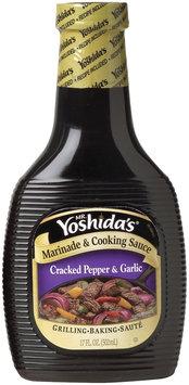 MR. YOSHIDA'S Cracked Pepper & Garlic Marinade & Cooking Sauce 17 OZ PLASTIC BOTTLE