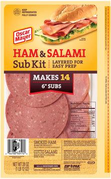 Oscar Mayer Ham & Salami Cold Cuts Sub Kit 28 oz. ZIP-PAK®