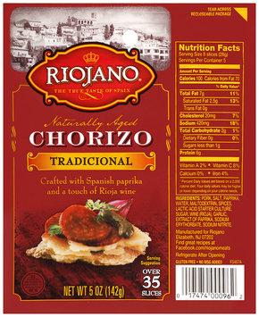 Riojano® Chorizo Tradicional 5 oz. Package