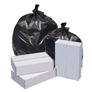 Unisan R4046H Repro Low-density Can Liners 40 X 46 Black 100/carton