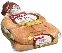 Sara Lee® Hearty & Delicious™ Corn Dusted Kaiser Rolls Made with Whole Grain 8 ct Bag