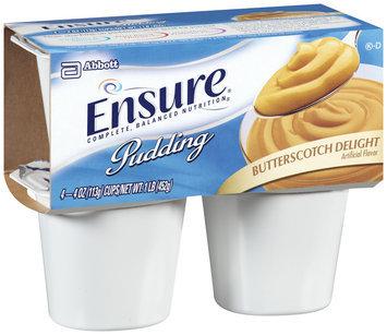 Ensure Butterscotch Delight Pudding 4ct, 4 oz Cups