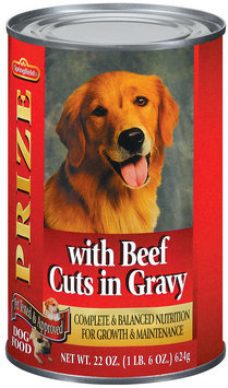 Springfield Prize W/Beef Cuts In Gravy Dog Food 22 Oz Can