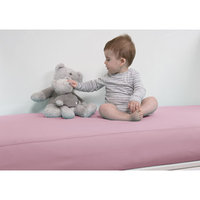 B.sensible All in One Baby Crib Sheet Color: Pink