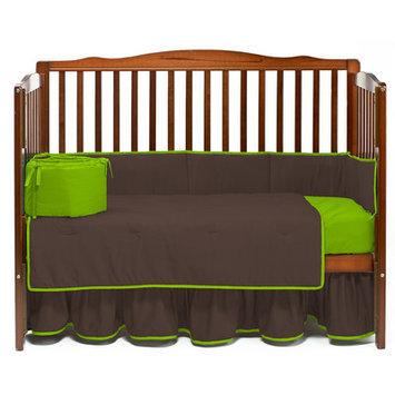 Baby Doll Bedding Solid 4 Piece Crib Bedding Set Color: Brown/Apple
