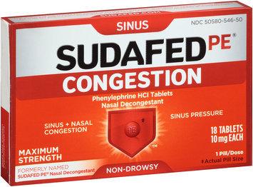 Sudafed PE® Non-Drowsy Sinus Congestion Maximum Strength Tablets 18 ct Box