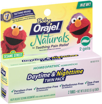 Baby Orajel™ Naturals Daytime & Nighttime Twin Pack Teething Relief Gel 2-0.18 oz. Tubes