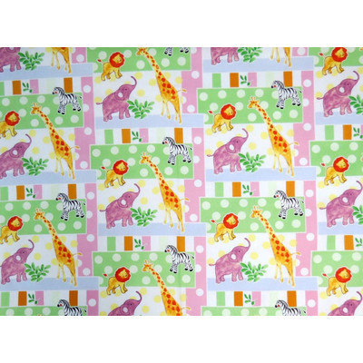 Stwd Jungle Animals and Dots Pack N Play Fitted Playard Sheet