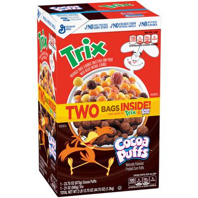 Trix™ & Cocoa Puffs™ Cereal 44.75 oz. Box